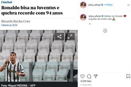 """""""El mejor del mundo.  El orgullo de mi vida"""", El mensaje de la hermana de Cristiano Ronaldo para la estrella de la Juventus"""