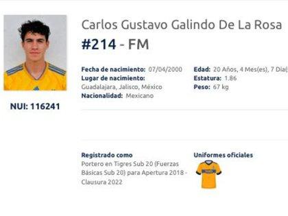 Carlos tiene entrenamiento en el equipo Atlas Sub-15 (Captura de pantalla: Liga MX)